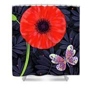 P Is For Pretty Poppy Shower Curtain