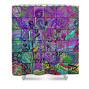P Patch Poppies 2 Shower Curtain