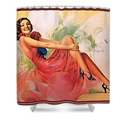 p rarmstrong 091 Rolf Armstrong Shower Curtain