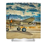 P38 Fly In Shower Curtain