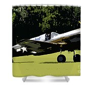 P40 Take Off Shower Curtain