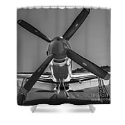 P51 Mustang Vintage Aircraft Shower Curtain