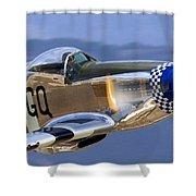 P51d Mustang At Salinas Shower Curtain