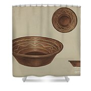 Pa. German Pie Plate Shower Curtain