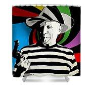 Pablo Colores Shower Curtain