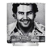 Pablo Escobar Mug Shot 1991 Vertical Shower Curtain