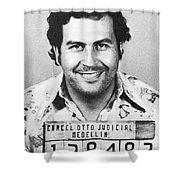 Pablo Escobar Mugshot Shower Curtain