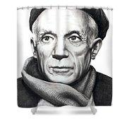 Pablo Picasso Shower Curtain