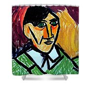 Pablo Picasso 1907 Self-portrait Remake Shower Curtain
