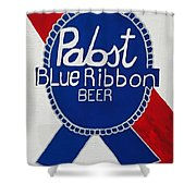 Pabst Blue Ribbon Beer. Shower Curtain