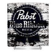 Pabst Blue Ribbon Beer Sign Shower Curtain