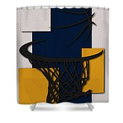 Pacers Hoop Shower Curtain