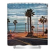 Pacific And 1st Street Shower Curtain