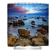 Pacific Blue At Pelican Point Shower Curtain
