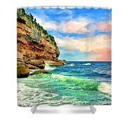Pacific Coast At Big Sur Shower Curtain