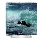 Pacific Coast Crashing Wave Photograph Shower Curtain