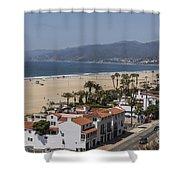Pacific Coast Highway Along Santa Monica Beach Shower Curtain