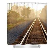 Pacific Coast Starlight Railroad Shower Curtain