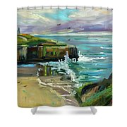 Pacific Dawning Shower Curtain