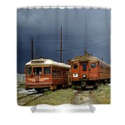 Pacific Electric Trolley, 5115, 316, Long Beach, California Shower Curtain
