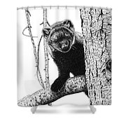 Pacific Fisher Shower Curtain