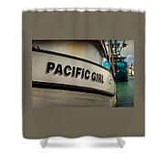 Pacific Girl Shower Curtain