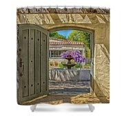 Pacific House Garden Watercolors Shower Curtain