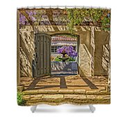 Pacific House Garden Watercorlors Shower Curtain