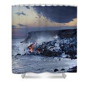 Pacific Lava Flow Shower Curtain