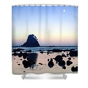 Pacific Moonset Shower Curtain