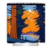 Pacific Northwest, American And Canadian Rockies, National Park Shower Curtain