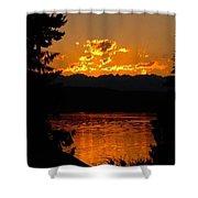 Pacific Northwest Sunset Shower Curtain