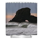 Pacific Northwest Waves Shower Curtain