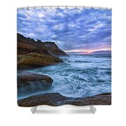 Pacific Ocean At Cape Kiwanda In Oregon Shower Curtain