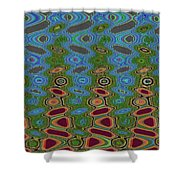Pacific Ocean From Oregon Abstract Shower Curtain
