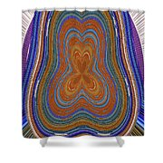Pacific Ocean Oregon View Abstract # 8085wwpct Shower Curtain