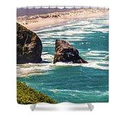 Pacific Ocean Shore Shower Curtain