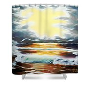 Pacific Ocean Storm Dreamy Mirage Shower Curtain