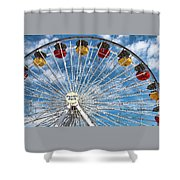 Pacific Park Ferris Wheel Shower Curtain