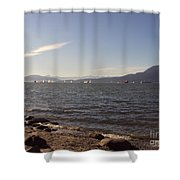 Pacific Sailboats Shower Curtain