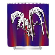 Pacific Science Center Arches 2 Shower Curtain