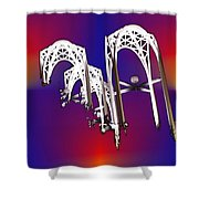 Pacific Science Center Arches Shower Curtain