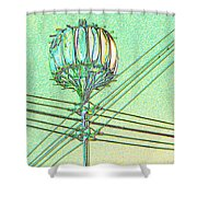 Pacific Science Center Lamp Shower Curtain