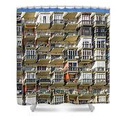 Pack And Stack - Costa Del Sol   Spain Shower Curtain