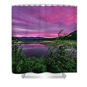 Pack River Sunset Shower Curtain
