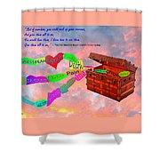 Pack Up Your Sorrows Shower Curtain
