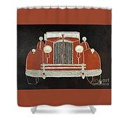 Packard 1937 Red Shower Curtain