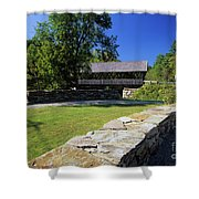 Packard Hill Covered Bridge - Lebanon New Hampshire  Shower Curtain