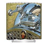 Packard Hood Ornament Shower Curtain