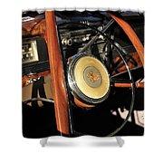 Packard Steering Wheel Shower Curtain